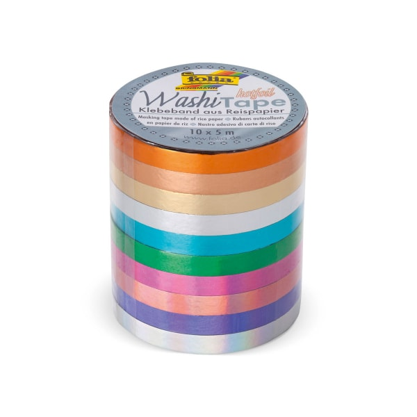 Washi Tape, 10/Set, Hotfoil