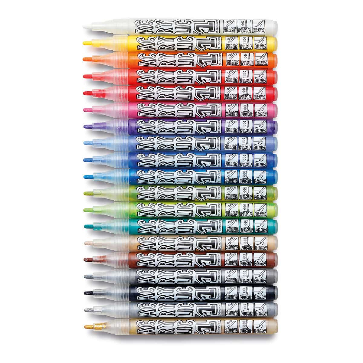 acrylicone fine round nib 1 5mm 19 set neuland markers markers more product range. Black Bedroom Furniture Sets. Home Design Ideas