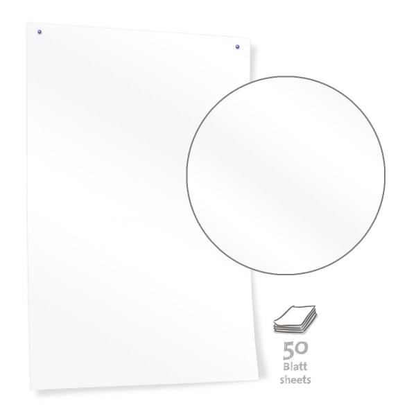 White Pinboard Paper – plain