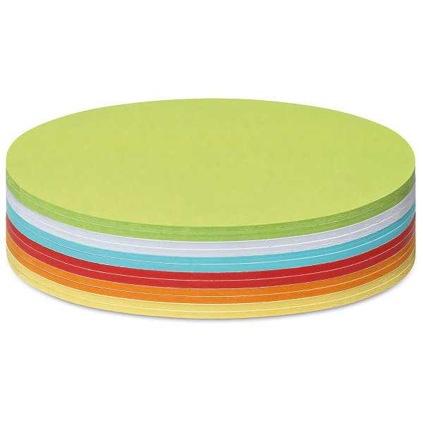 Stick-It Cards, oval, 300 sheets, assorted