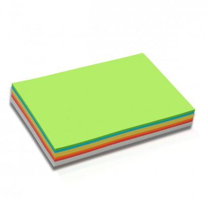 250 Rectangular Pin-It Cards, DIN A5, assorted colours
