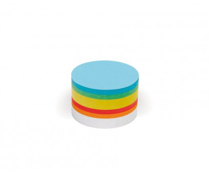 250 Small Circular Pin-It Cards, assorted colours