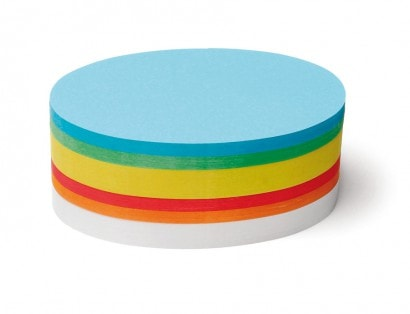 500 Oval Pin-It Cards, assorted colours