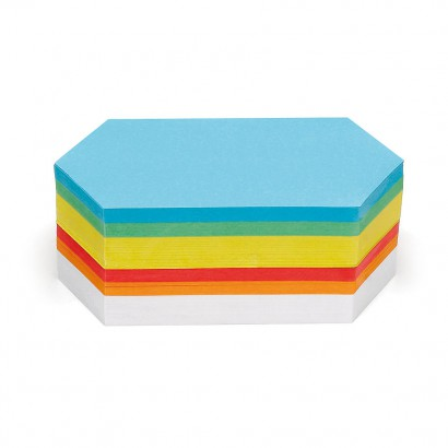 500 Rhombus Pin-It Cards, assorted colours
